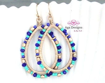 Oval, teardrop earrings  - long, light weight earrings  pick your color