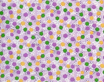 Purple And White Floursack Print 100% Cotton Quilting Fabric
