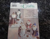 Vintage Simplicity crafts Olde World Santa collection pattern