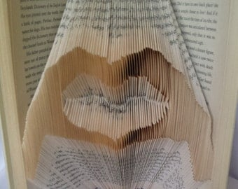 Folded Book Art - Love Made by Hands - Heart Hands - Love Symbol