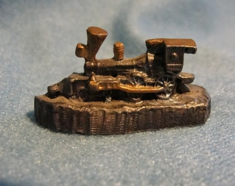 Pewter miniature train engine 1990 Collectible pewter figurine