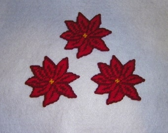 Poinsettia Magnets PATTERN ONLY