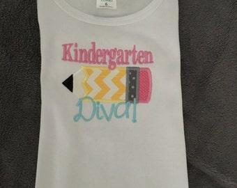 Kindergarten Diva Tee Shirt