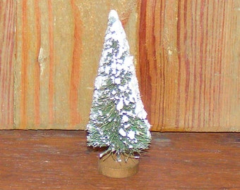 Vintage Snow Frosted Bottle Brush Tree