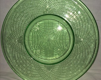 Beautiful Green Romanesque Round Plates