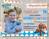 Paw Patrol Birthday Invitation - boy birthday  - Paw Patrol -  5x7 printed or printable