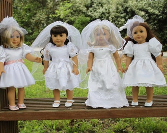 Veils for Dolly- PDF Sewing Pattern- 15 and 18 inch dolls