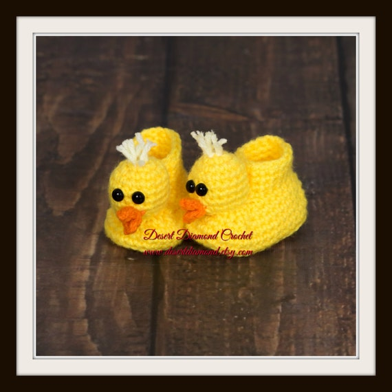 Crochet Pattern 016 - Duckie Animal Baby Booties