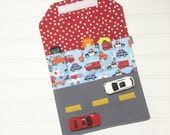 Car Wallet - Holds 5 of your childs favorite cars - Emergency Vehicles