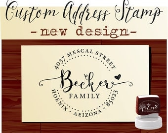 RETURN ADDRESS STAMP - Personalized Self Inking Wedding Stationery Stamper - Style 1162D