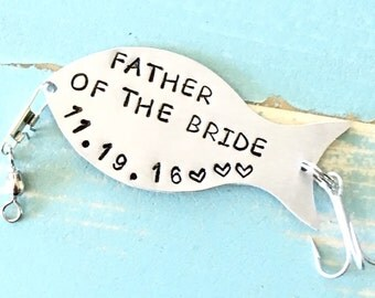 PERSONALIZED Fishing Lure, FATHER Of The BRIDE, Gift For Dad, Gift For Father, Gift For Fisherman, Wedding Gift, Custom Lure