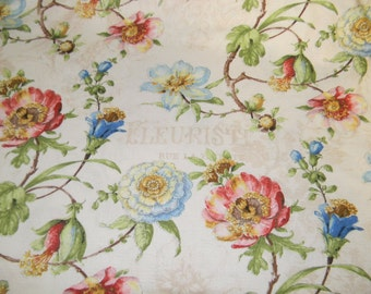Paris Forever Cotton Fabric by Wilmington Fabrics 86386 Ivory