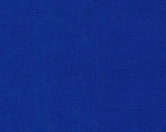 Recycled Water Bottle ORGANIC Cotton Blend Eco Twill Fabric Royal Blue MULTIPURPOSE