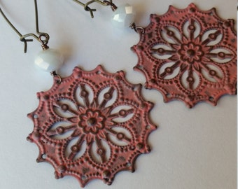 Why, Georgia....painted filigree earrings