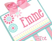 NEW DESIGN - Hair Bow Holder Personalized Custom Hand Painted Boutique Childrens Bow Board Organizer - LARGE