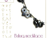 Beading tutorial / pattern Buhuq necklace with Arcos and Minos beads Beading instruction in PDF – for personal use only