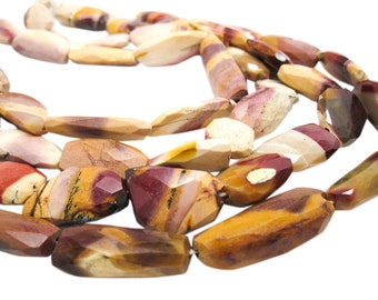 Mookaite Beads, Mookaite Nuggets, Faceted Nuggets, Multi Color Gemstone, SKU 3687A