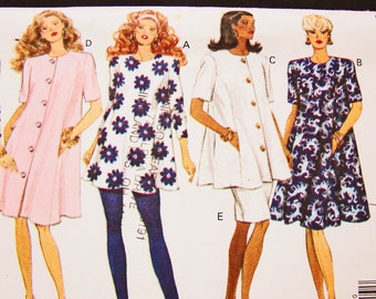 Ladies Maternity Dress Pattern Misses size 6 8 10 12 Butterick Womens Maternity Top, Maternity Skirt, Leggings Sewing Pattern