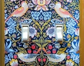 5 CHOICES of Art Nouveau double switchplates w/ MATCHING Screws Art Nouveau switch cover Art Nouveau decor Art Deco William Morris decor (C)