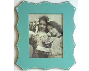 Shaped Frame - Distressed Teal Blue, 11X14