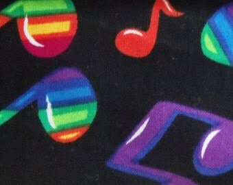 Rainbow Musical Notes Greyhound, Whippet, Galgo, Pit Bull, Dog, Sighthound Martingale Collar