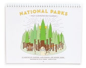 SALE National Park 2017 Wire Coil Calendar