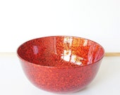Large fruit,salad,buffet,popcorn,party,punch,serving bowl in ruby red glitter sparkle.