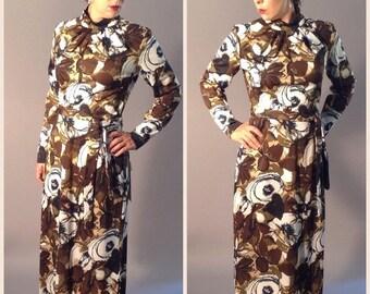 GBYE SUMMER SALE Vintage Deadstock Maxi Dress Hostess Gown Skirt S/M