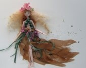 WISP porcelain jointed elfin art doll, 8 inches, handmade in the USA
