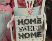 """Home Sweet Home 2""""x 2"""" canvas sign"""