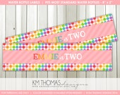 Printable Rainbow Water Bottle Labels - Girl Birthday Party Decorations - Rainbow Theme Party Decorations - BD152