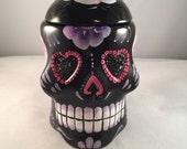 Dia de Los Muertos box / Sugar Skull Jar / Day of the Dead skull box / skull box