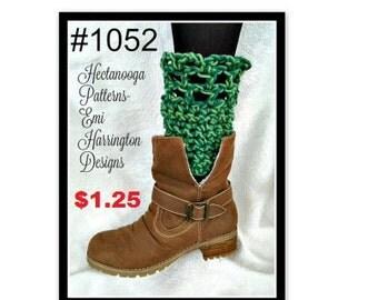 CROCHET PATTERN, legwarmers, women, teens, boot cuffs, winter clothing, #1052