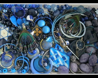 BLUE DESTASH Jewelry pieces and parts beads craft supplies