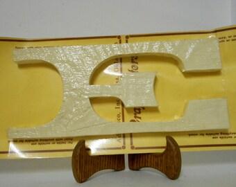 Wooden Letter E Vintage Craft Home Decor Industrial Alphabet NOS Wood 11 inch