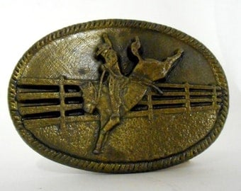 Vintage Saddle Bronc Chad Belt Buckle Horse Cowboy Western Rockabilly 1981 Colorado