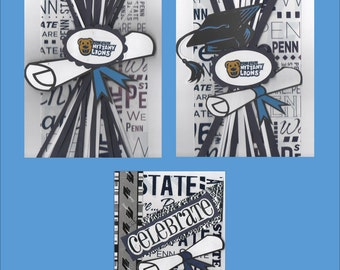 Handmade Penn State Graduation Cards - PSU Congratulations Cards - Free shipping in USA