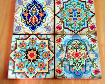 hamsa hand blocks morrocan wall art set hamsa art