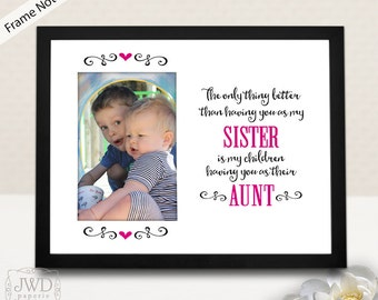 gift for aunt picture frame mat gift for auntie personalized gift for aunt sister gift personalized picture mat frame not included pm509
