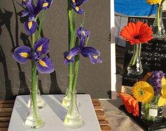 Four flask science centerpiece vase
