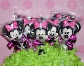 Minnie and Mickey lollipops
