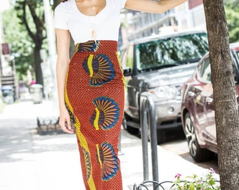 African pencil skirt, High waist maxi skirt, Africa clothing, African skirt, African fabric, High waist pencil skirt, Sexy pencil skirt