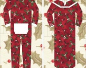 Winter Longjohns and Nightgown #8 PDF Paper Piecing Pattern