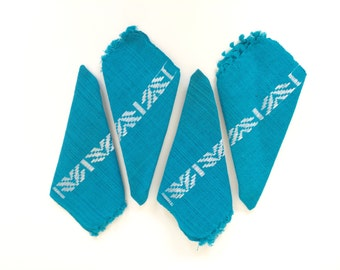 Embroidered Turquoise Napkins