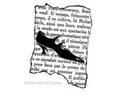 French Couture 1920's shoes- CLING RuBBer STAMP by Cherry Pie Art Stamps