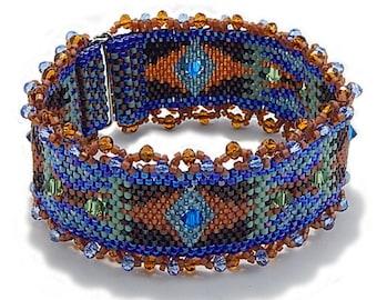 Blue Peyote Beaded Cuff Kit
