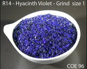 Hyacinth Violet Transparent Lampwork Frit Grind size 1 COE 96 - 1 ounce