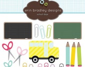 60% OFF SALE School Days Clipart Clip Art for Personal and Commercial Use