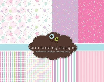 60% OFF SALE Princess Digital Scrapbook Paper Pack Personal & Commercial Use