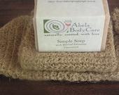 Natural Hemp Wash Cloth with Soap Set